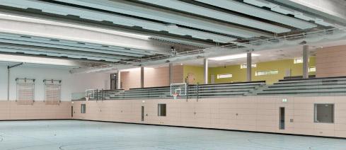 Akustikelemente in Sporthalle
