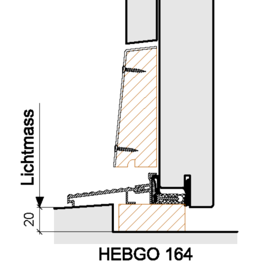 Bodenabschlüsse Aussentüren – HEBGO 164