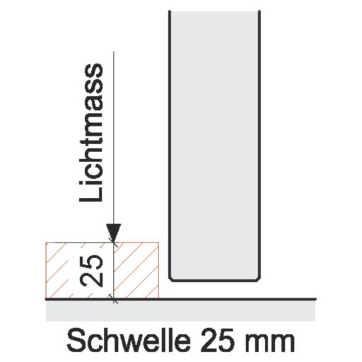 Bodenabschlüsse Innentüren – Schwelle 25 mm