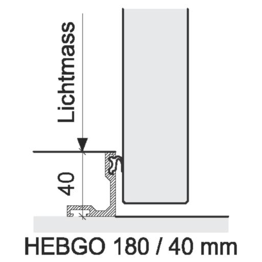 Bodenabschlüsse Innentüren – HEBGO 180 / 40 mm